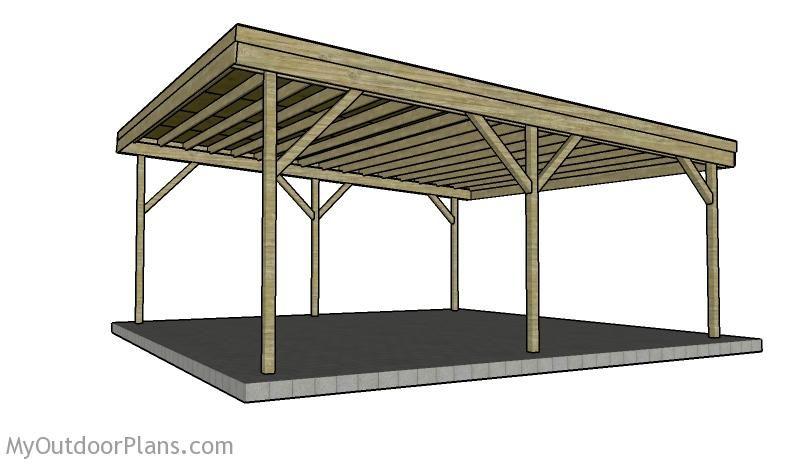 Building A Double Carport Plans How To Build A Carport