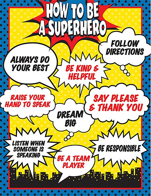 How To Be A Superhero Chart Superhero Chart And