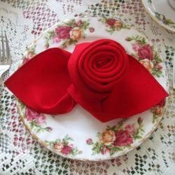 Origami flower napkin folds gardening flower and vegetables origami flower napkin folds napkin folding a rose napkins triangle and rose mightylinksfo