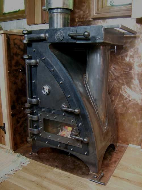 A Multifuel Stove Range Which Can Cook Bake Smoke And