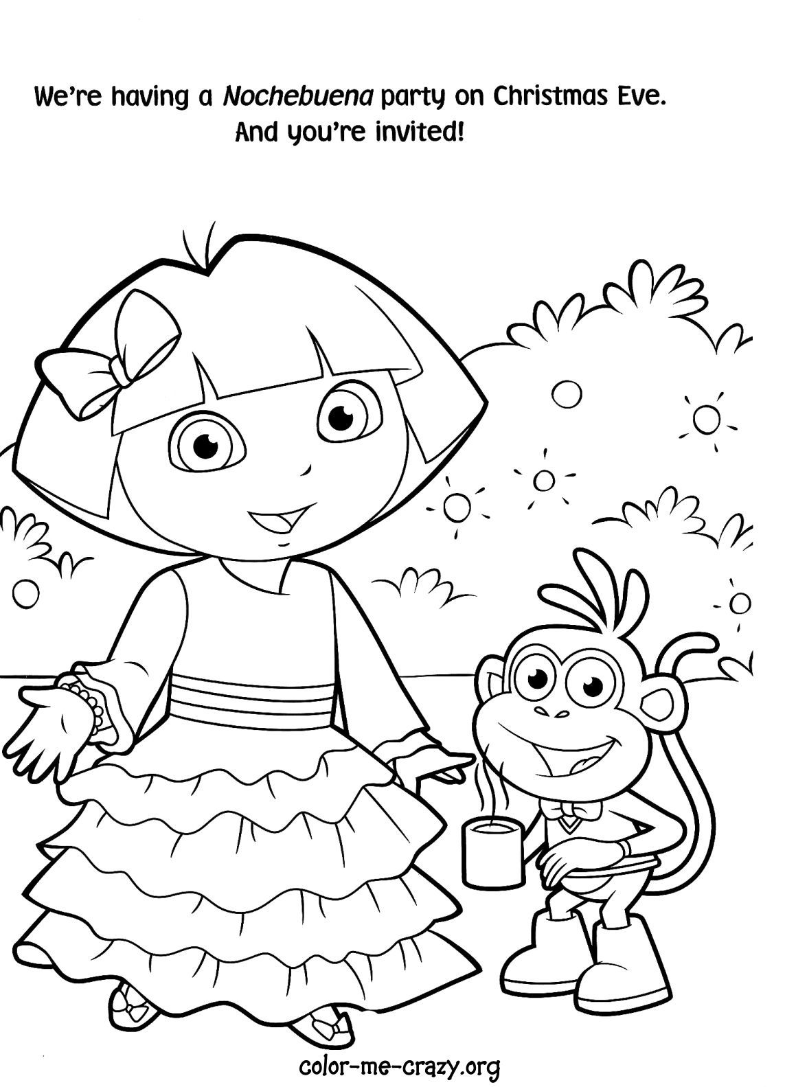 Cool Dora Coloring Pages Page 1 Top Markotop Coloring Pages For