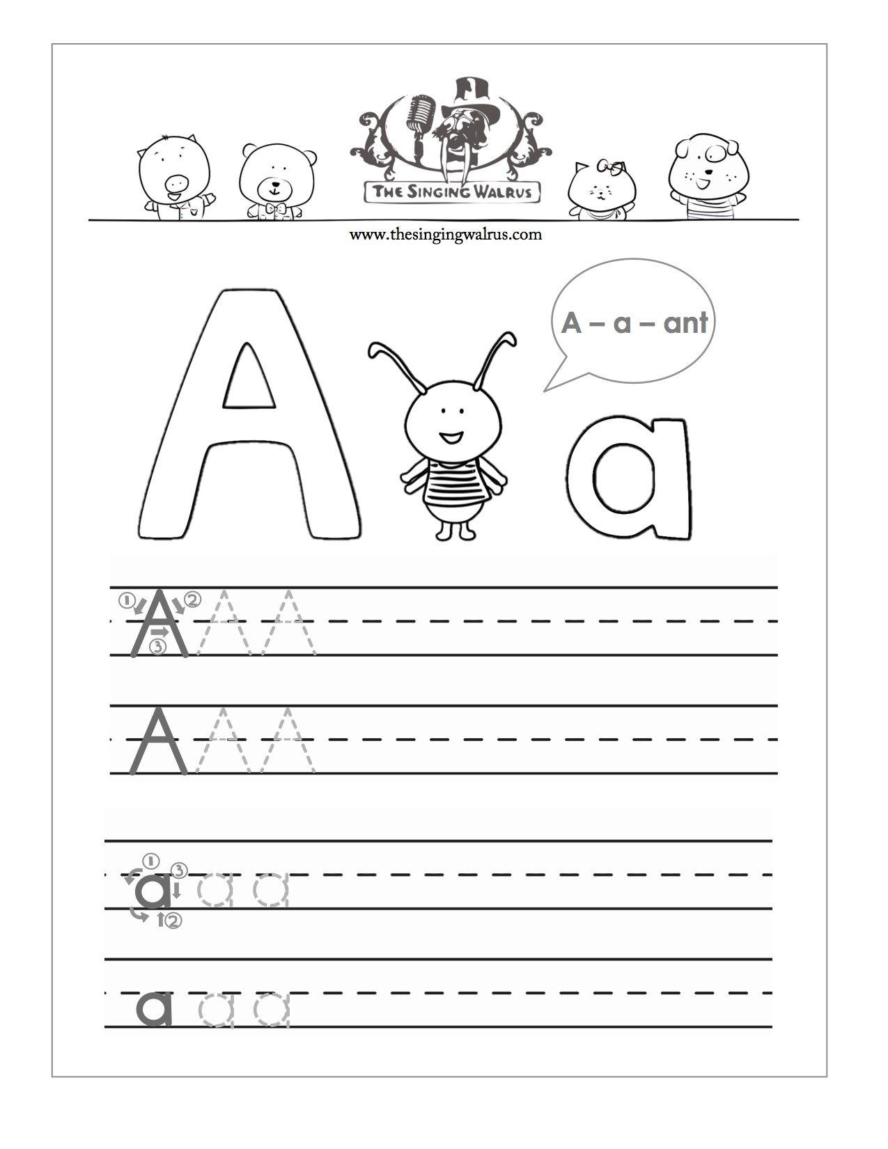 Free Pr T Ble Letter Pr Ctice Sheet Kids B Ti Of