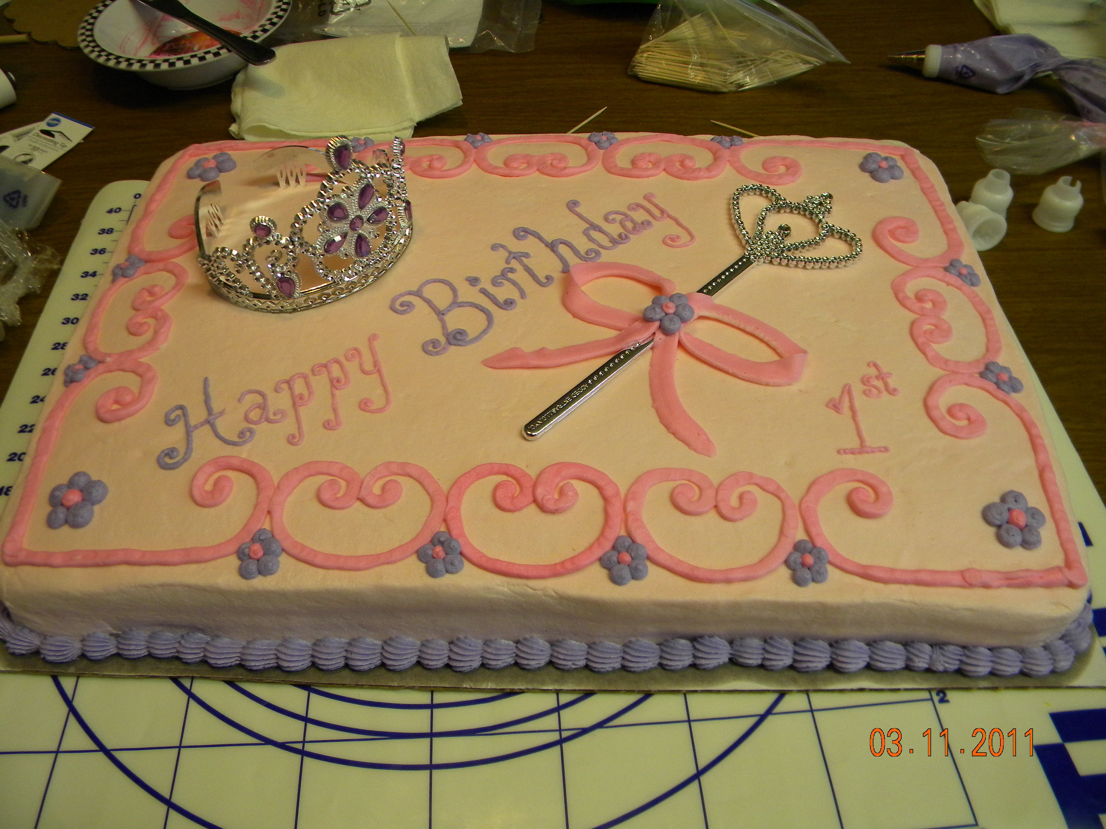 Princess 1st Birthday Pretty Simple Princess First