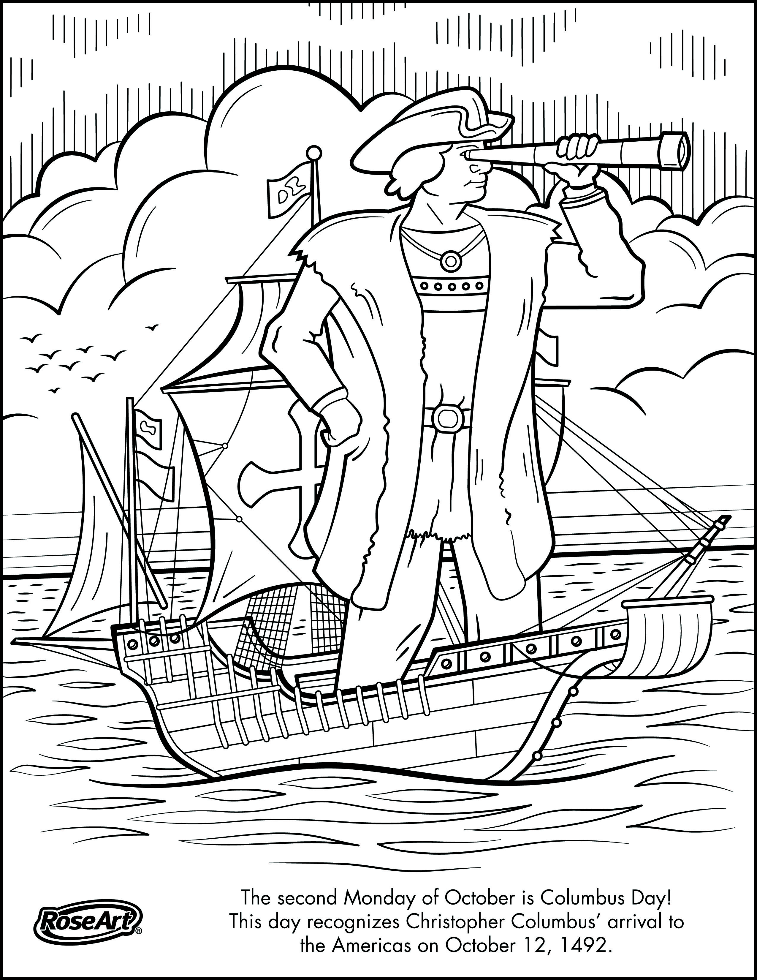 Engage Younger Kids With Columbus Day With Printable Coloring