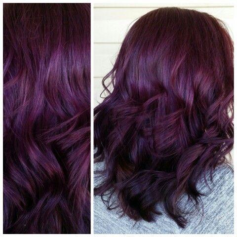 Violet Purple Plum Hair … | Pinteres…