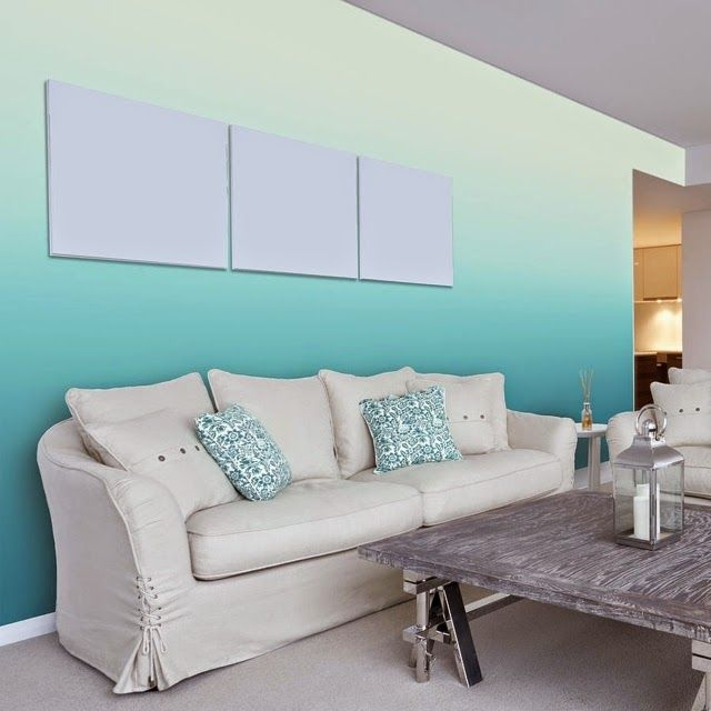 Wall Painting Techniques Ombre Living Room Ideas Maritime