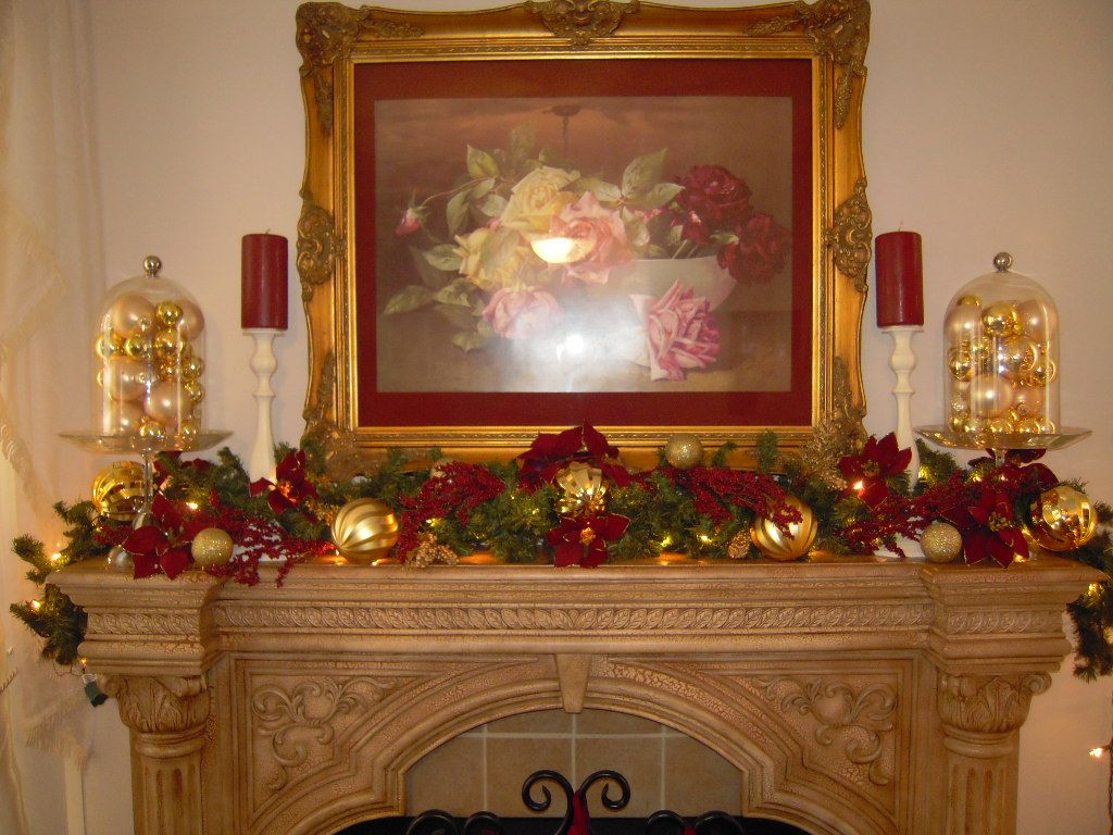 Elegant Christmas Decorating Ideas   Bing Images   Christmas     Spellbinding Elegant in Gold Red Green Christmas Mantel Decorating Ideas  from Glowing Christmas Holiday Fireplace Mantel Decoration on Categ