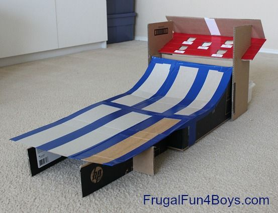 Diy Cardboard Box Skee Ball Game Skee Ball Gaming And