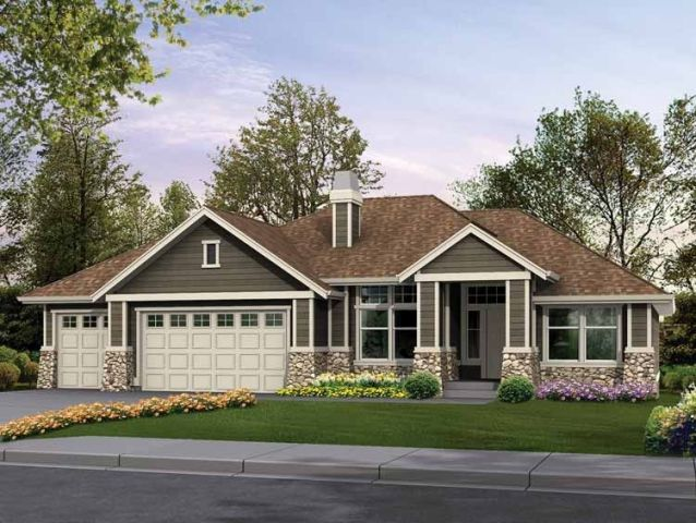 Eplans Craftsman House Plan   Classic Rambler Perfect for Family     Eplans Craftsman House Plan   Classic Rambler Perfect for Family Living    2615 Square Feet and 4 Bedrooms from Eplans   House Plan Code