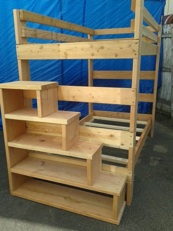 Full Size Loft Bed With Stairs Foter Things To Build