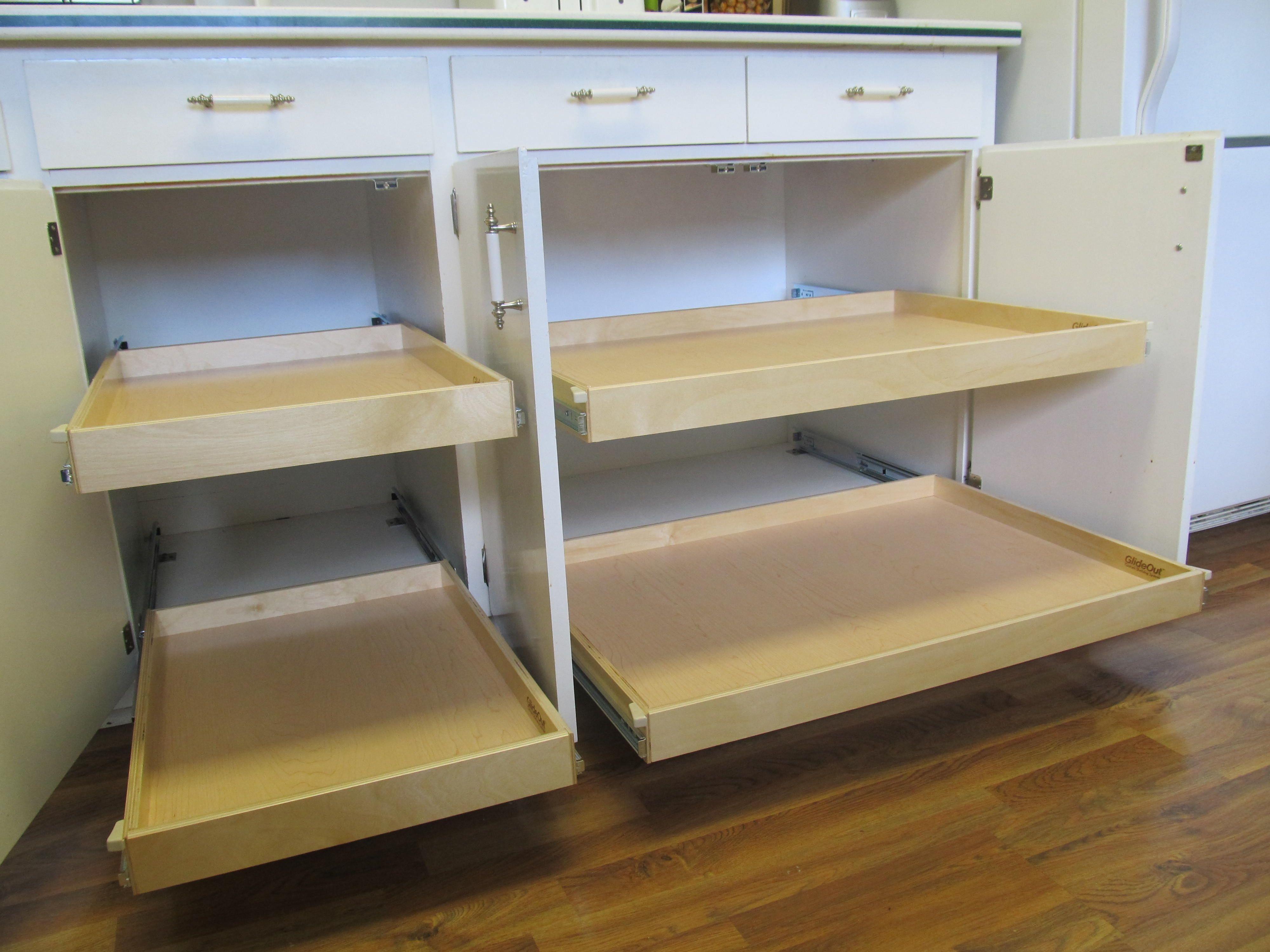 Best Kitchen Gallery: Sliding Shelves For Kitchen Cabi S B4 After Pinterest of Sliding Shelves For Kitchen Cabinets on cal-ite.com