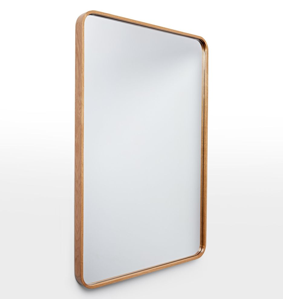 Solid Walnut Rounded Rectangle Mirror | Rounded rectangle ...