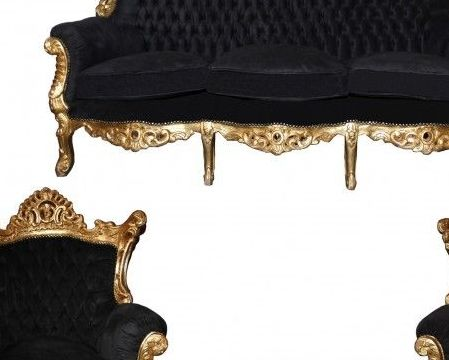 HD Decor Images » Pin by Casa Padrino on Barock Wohnzimmer Garnituren   Pinterest     Sofa Set  Masters  Gold