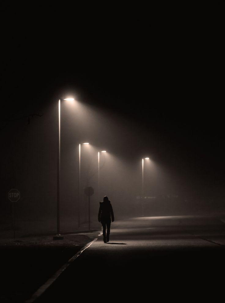 Solitude Midnight Walk in Dark, photograph by Shavkat ...