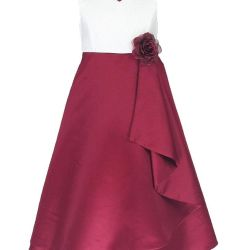 2cc2bdc60b New Colors Satin Party Bridesmaids flower Girl Dress Burgundy 8