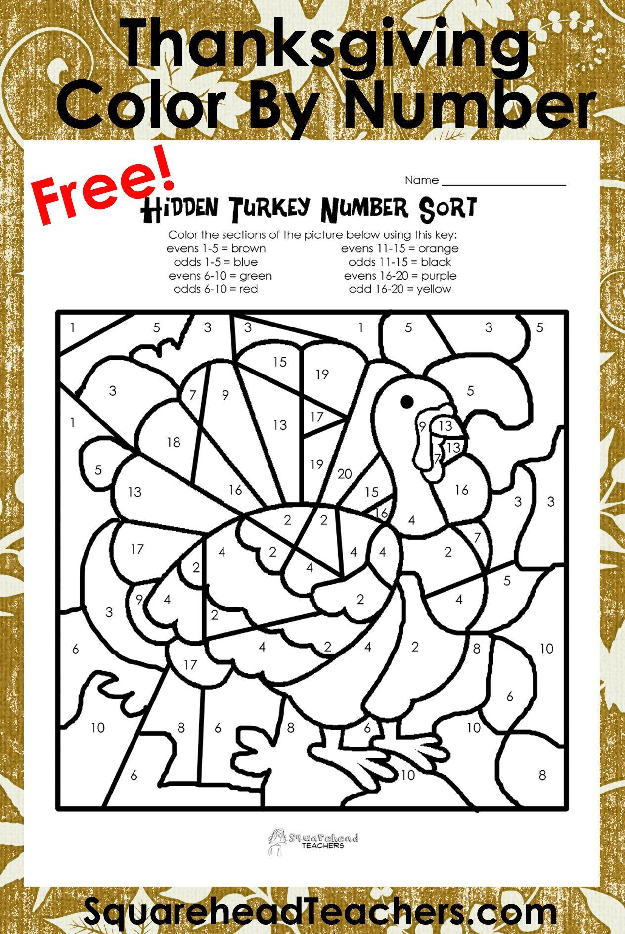 Odd Turkeys Free W Ksheet Squ Rehe D Te Chers