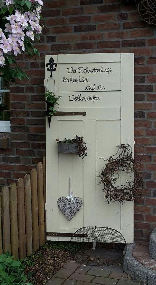Alte Tür, Garten Deko, dekorieren Wohnen/Hausbau/Garten