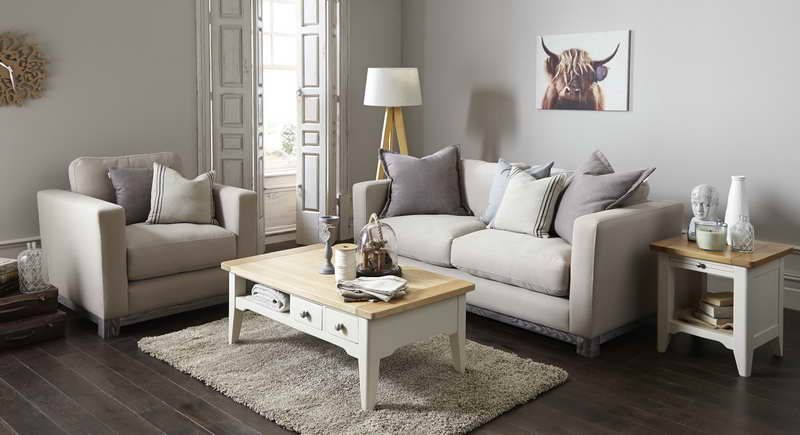 Shabby Chic Living Room Ideas With Wood Table | 0 obývacia ...
