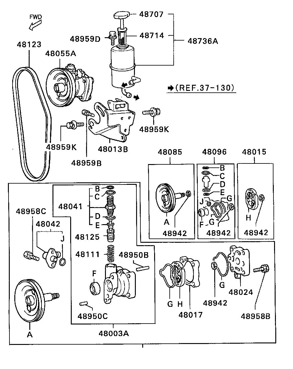 Mitsubishi l200 power steering oil pump brass automobile parts