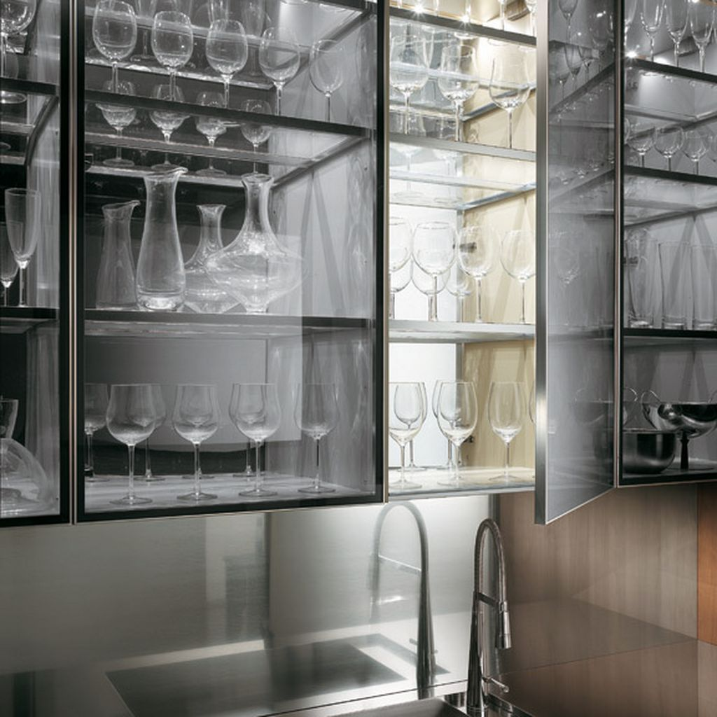 Best Kitchen Gallery: 24 Pictures Of Kitchens With Glass Cabi S Glass Kitchen of Metal And Glass Kitchen Cabinet Doors on cal-ite.com