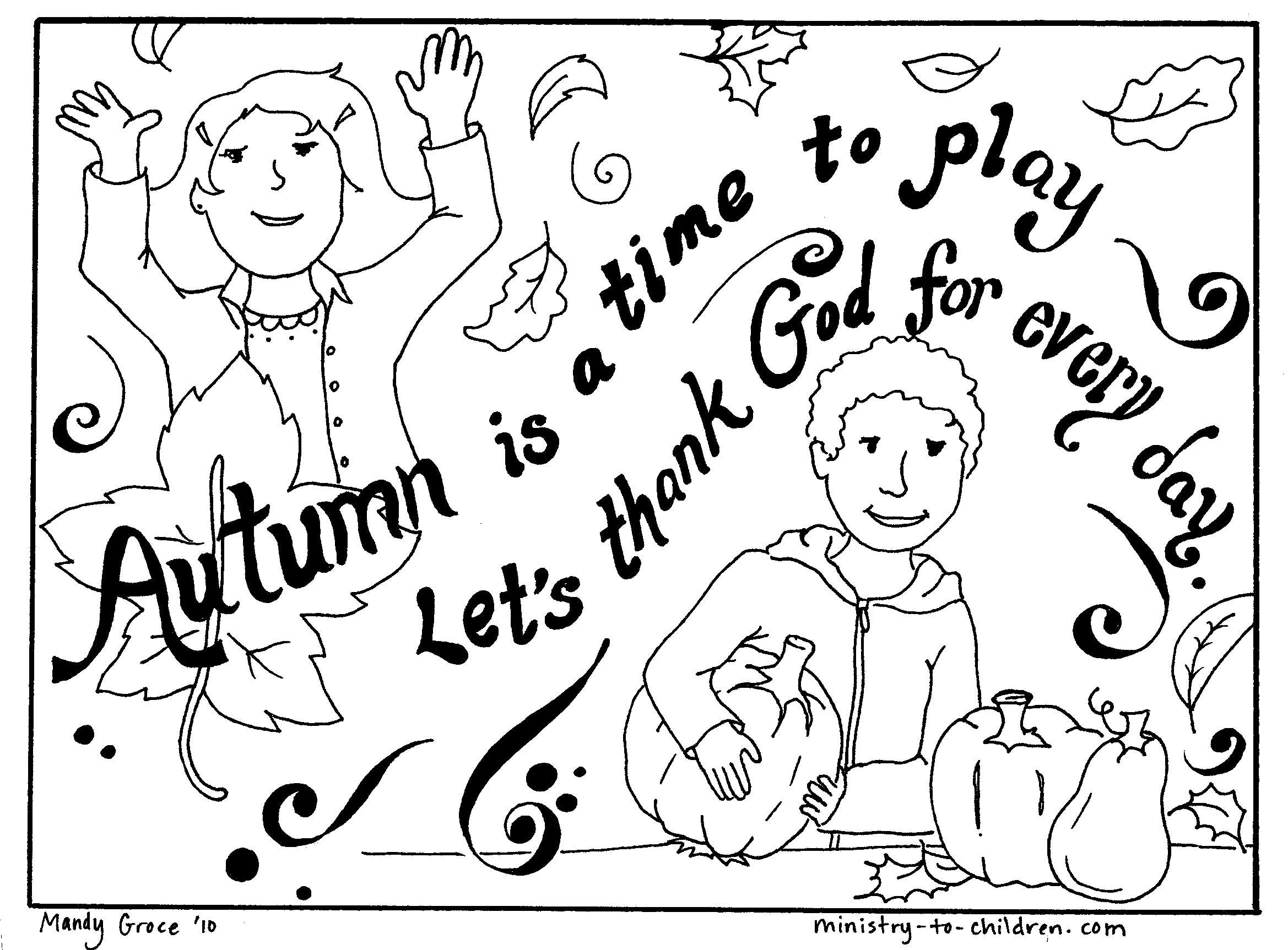 Fall Coloring Page Mops Pinterest Sunday School School And
