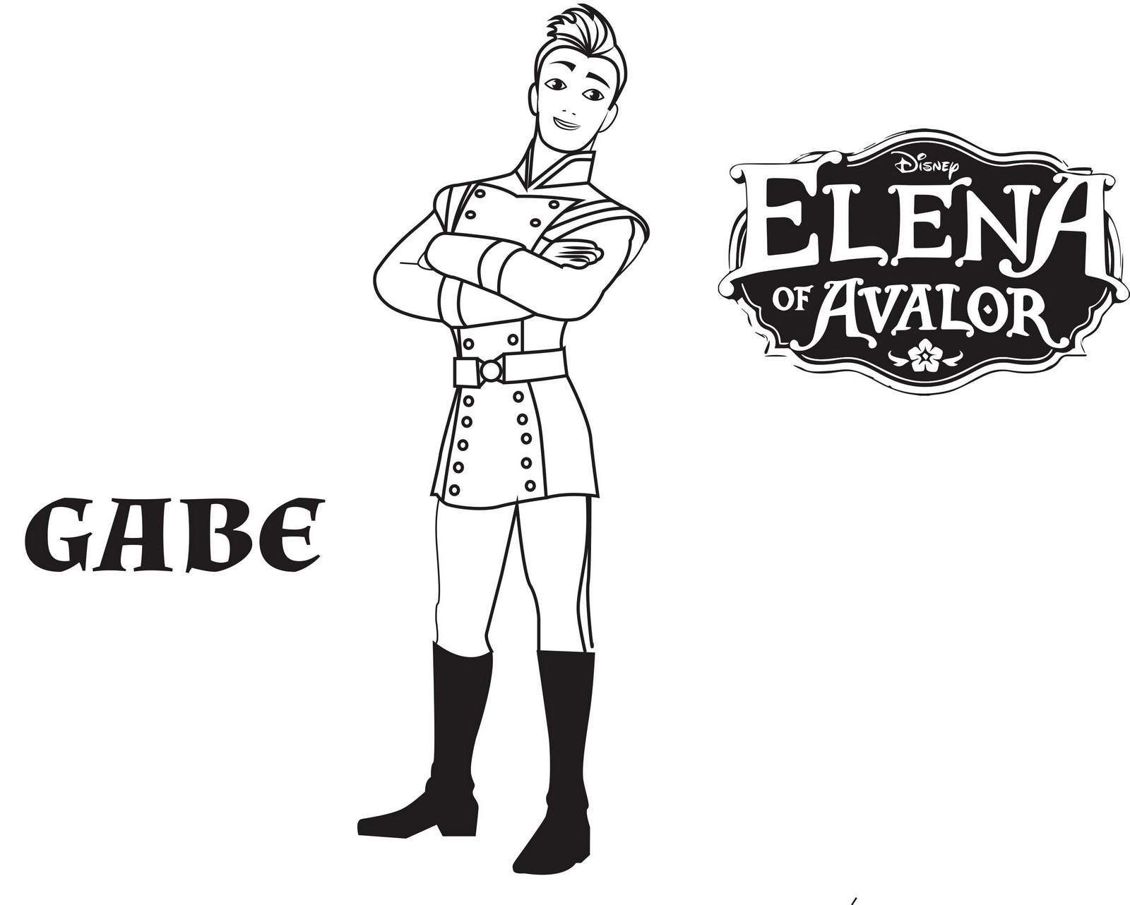 Gabe From Elena Of Avalor Coloring Pages Disney Coloring