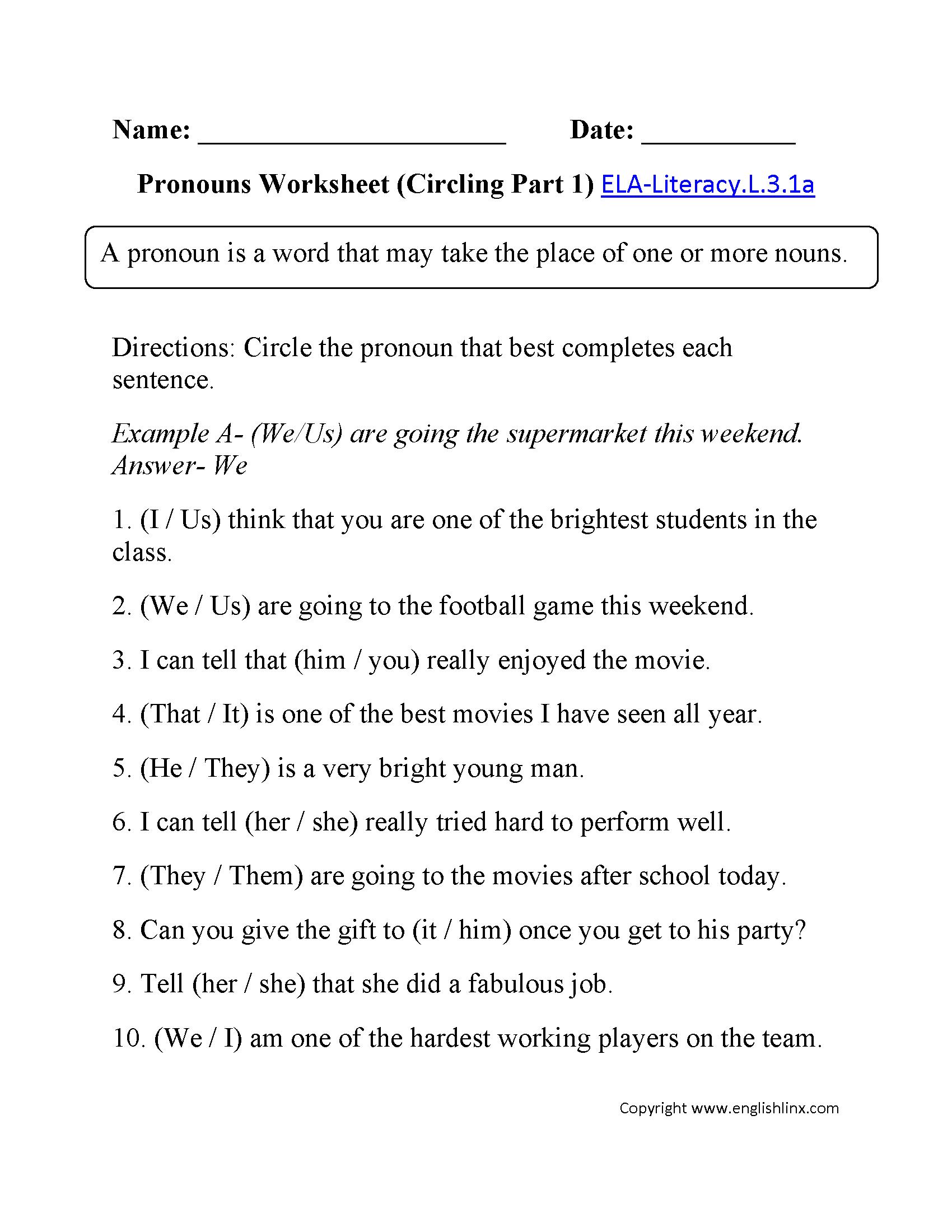 Worksheets Pronoun Verb Agreement Worksheet pronoun verb agreement worksheets free library download pr ouns l 3 1 p terest m c es w ksheets