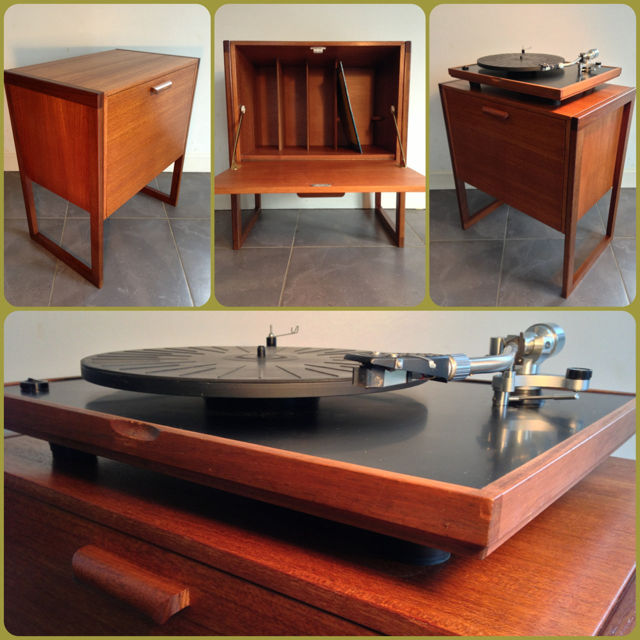 Best Kitchen Gallery: Record Cabi Original 60's Teak Furniture Pinterest of Cabinet Storage Turntable on rachelxblog.com