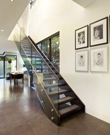 Modern Staircase With Open Glass Panel Side Staircases | Stairs With Glass Sides