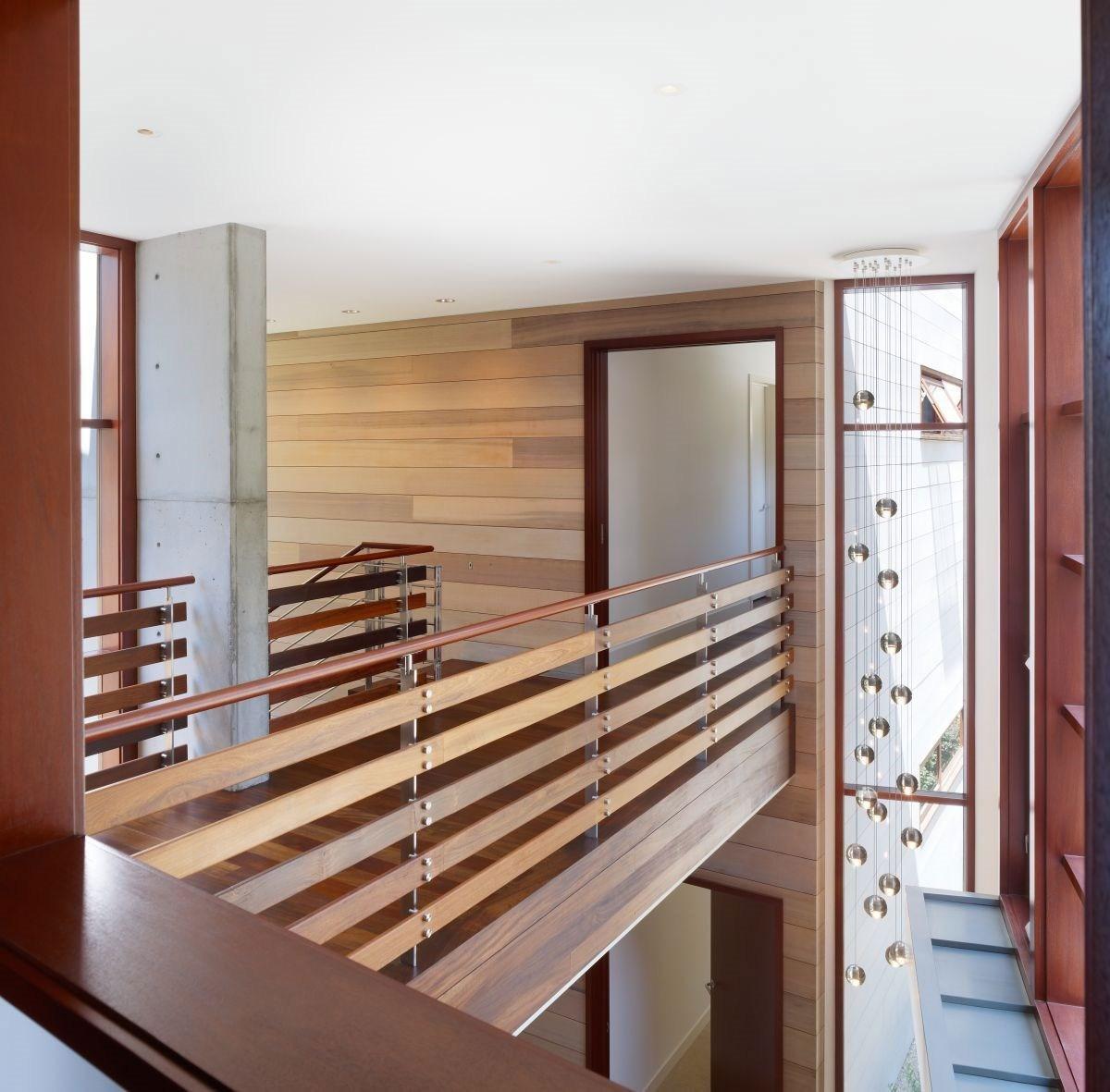 Indoor Bridge And Railings Design Using Wood Ideas Photo   Modern Banisters And Railings