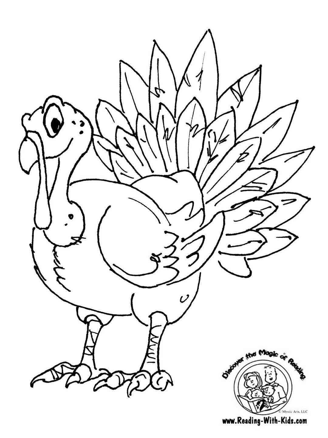 Thanksgiving Turkey Coloring Page 1 080×1 440 Pixels