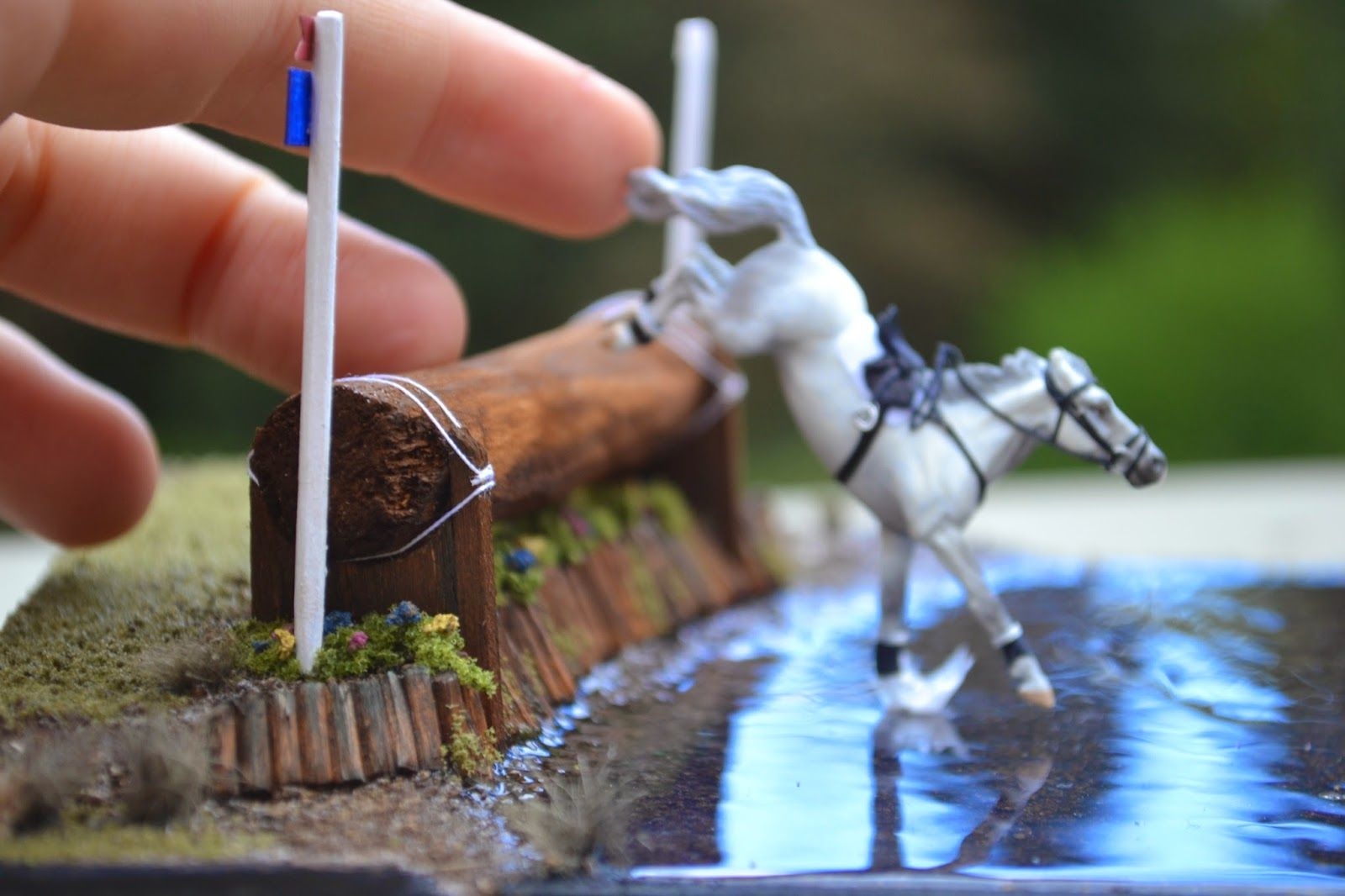 Micro Tackmaker Grace Ledoux Cross Country Model Horse 1