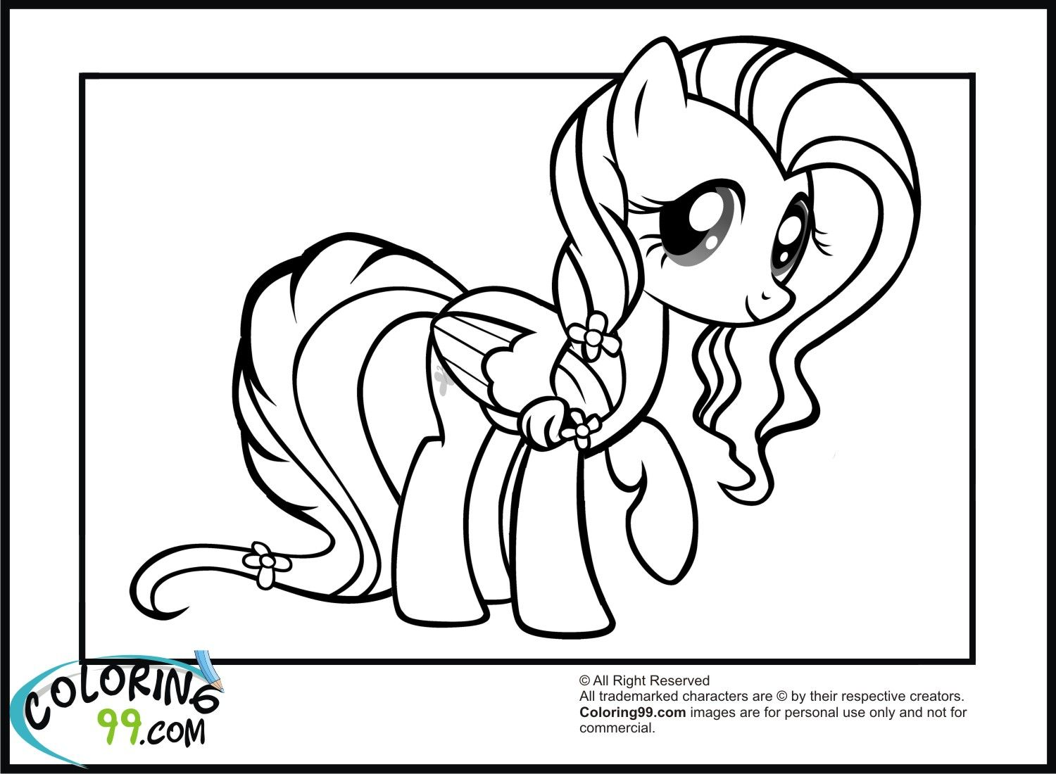 Fluttershy In New Hairstyle Colouring For The Girls Pinterest