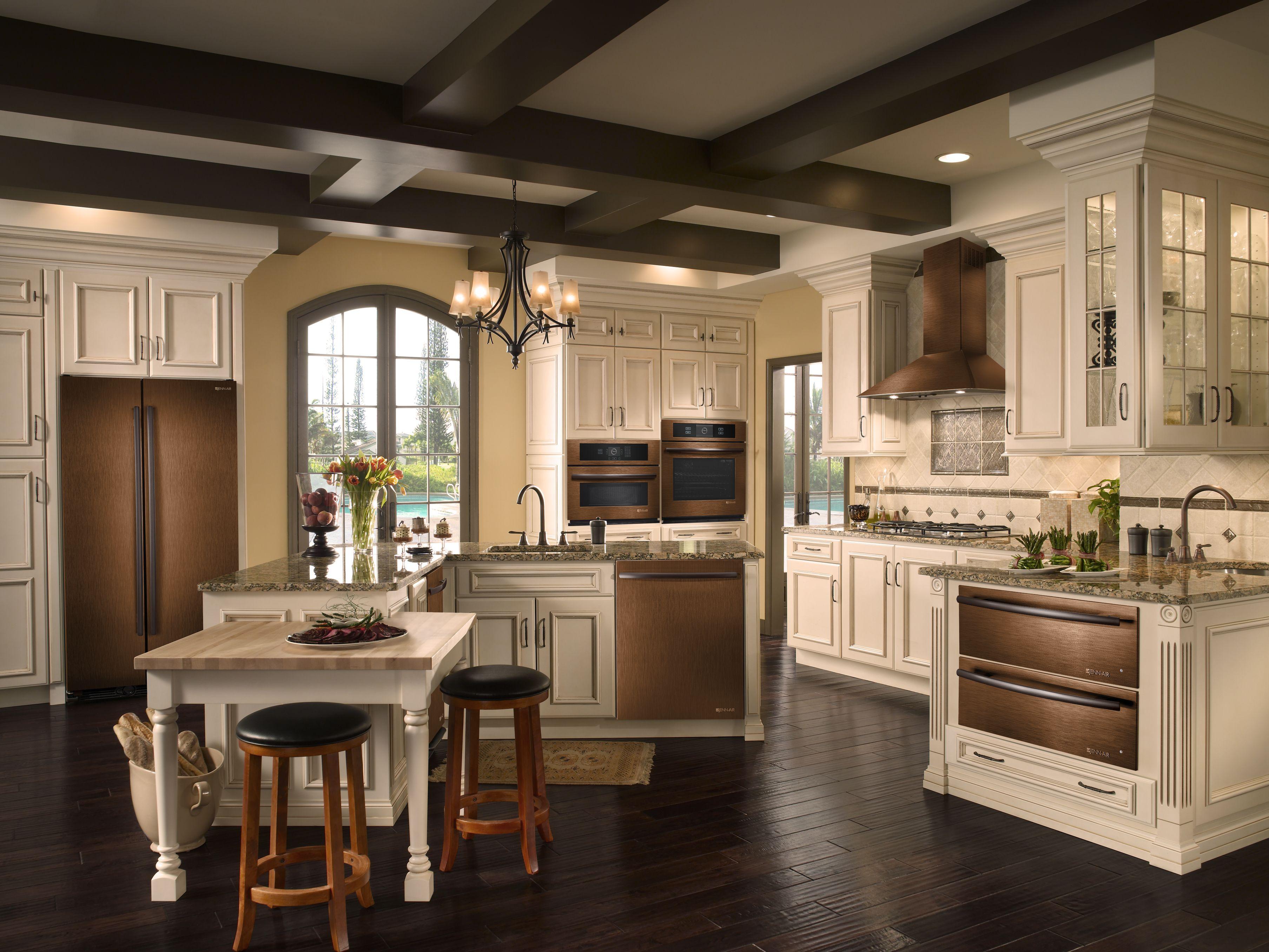 Best Kitchen Gallery: A Splash Of Unusual And Elegant Color In The Kitchen Jenn Air of Luxurious Kitchen Designs Refrigerator on rachelxblog.com
