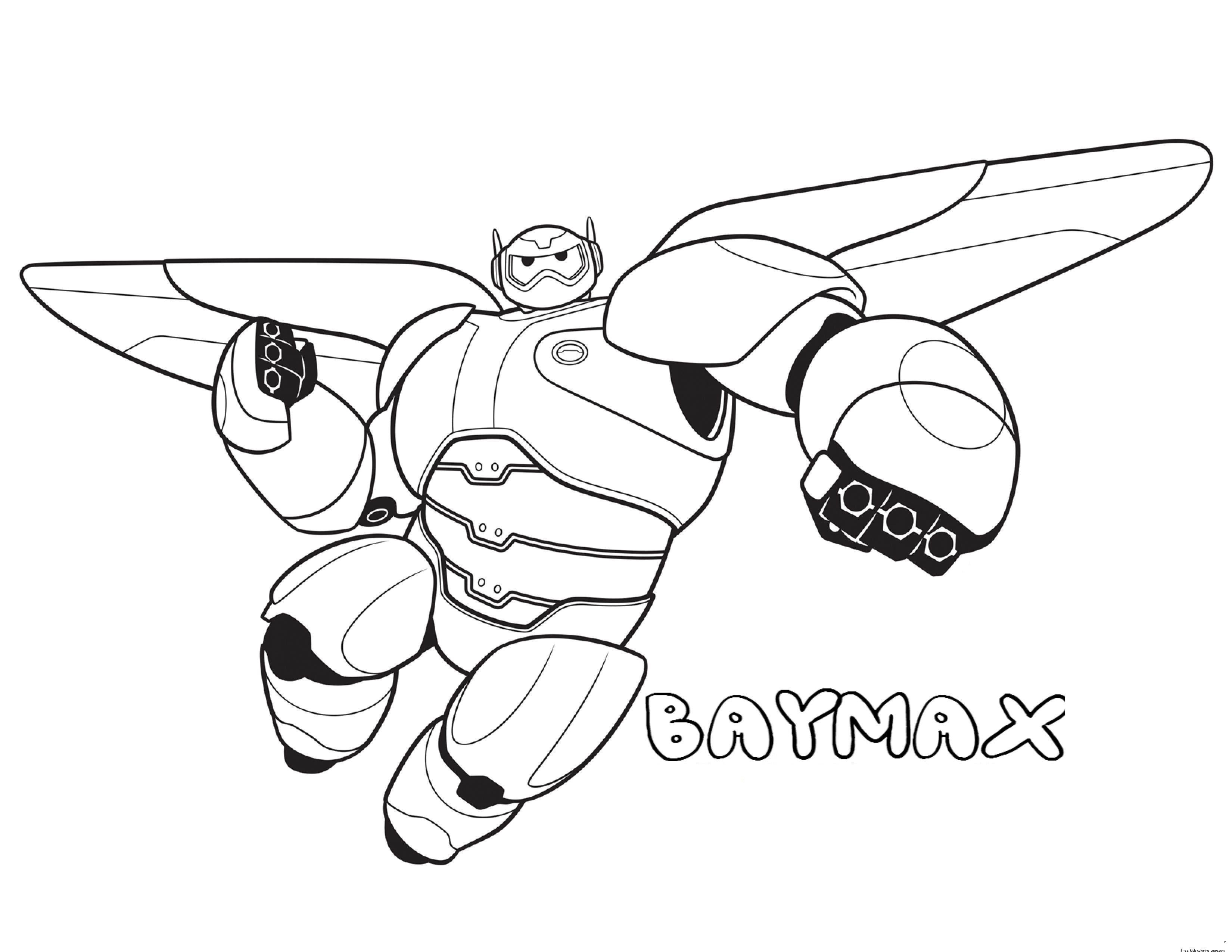 Free Printable Big Hero Baymax Coloring Pages For Kids 3300