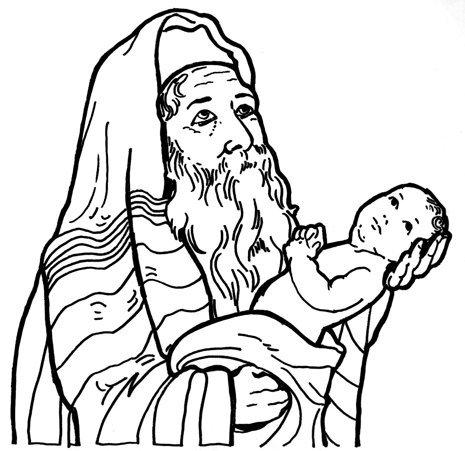 Simeon Sees Jesus God