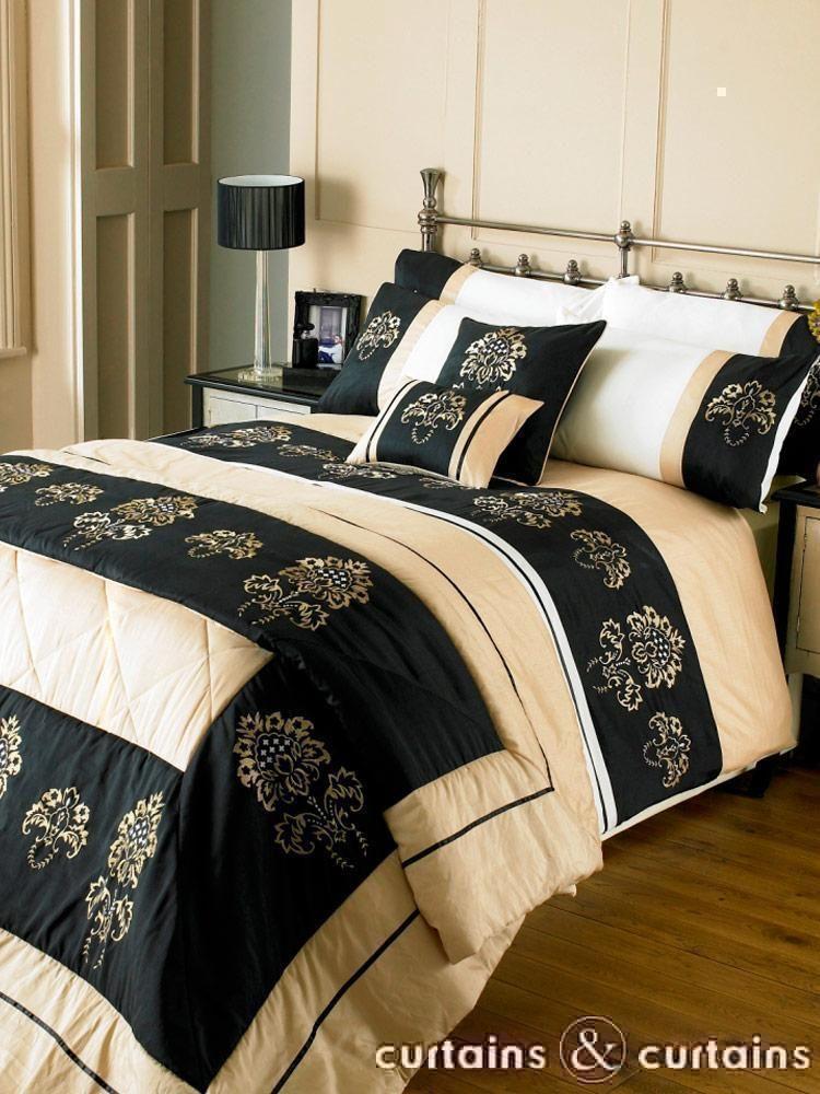 Majestic Black Amp Gold Duvet Cover Set Beds Uk Gold Bed