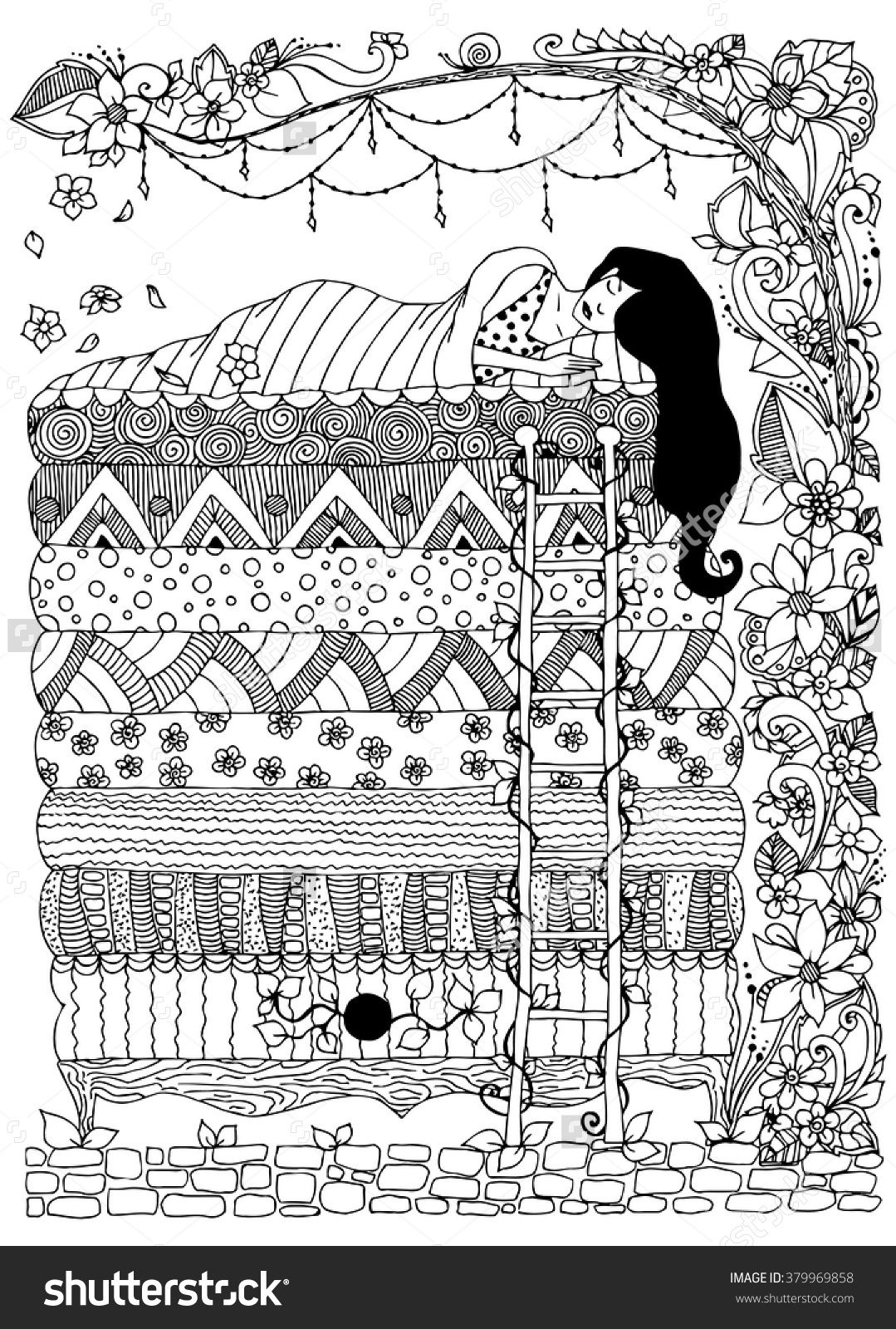 Princess And The Pea Zentangle Birthdays Pinterest Princess