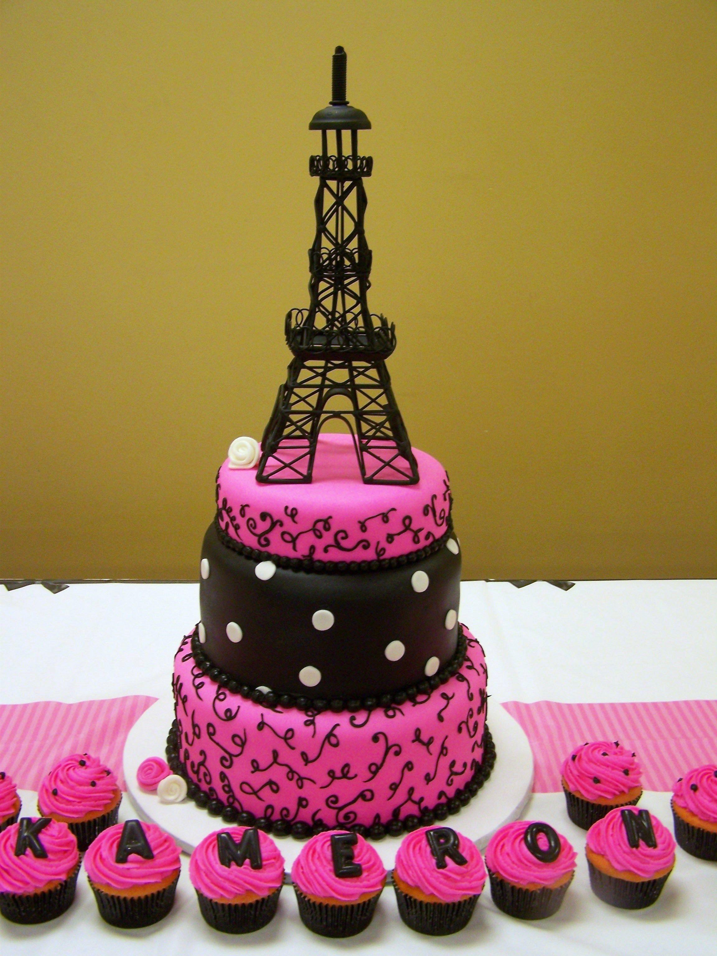 Paris Themed Cake Cakes I Ve Made Pinterest Cake