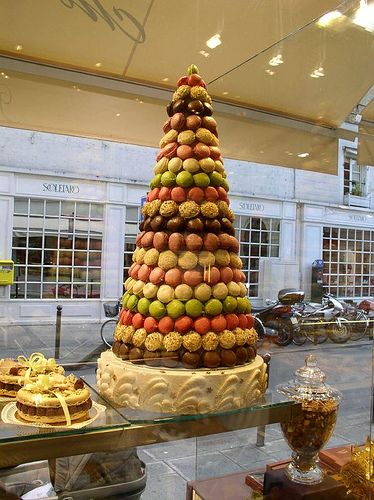 In France  the traditional wedding cake called    croquembouche     It     In France  the traditional wedding cake called    croquembouche     It is a tall