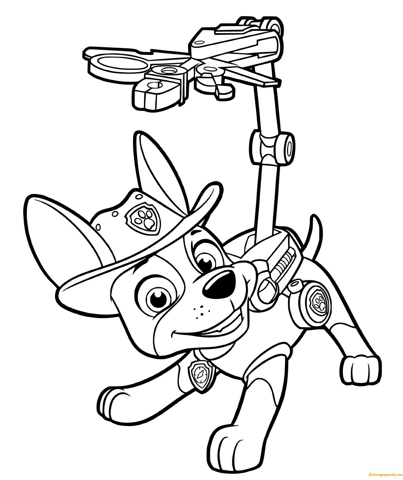 Paw Patrol Tracker Coloring Page Coloringpagesonly