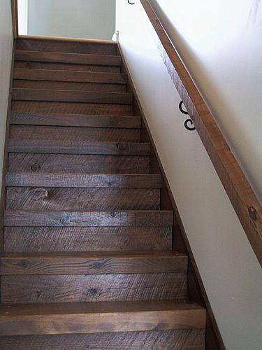 Custom Rough Hewn Pine Stairs Stairs Pinterest Pine
