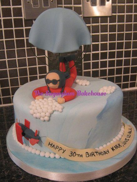 Skydiver Parachute Cake Cake By Sugarplumb Cakes For