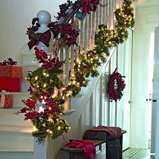 Seasonal Garland 10 Best Christmas Hallway Ideas