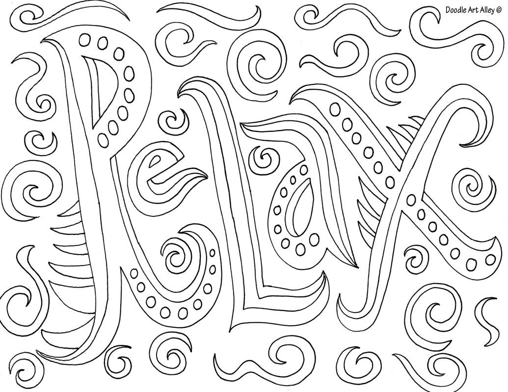 Relax Adult Coloring Pinterest