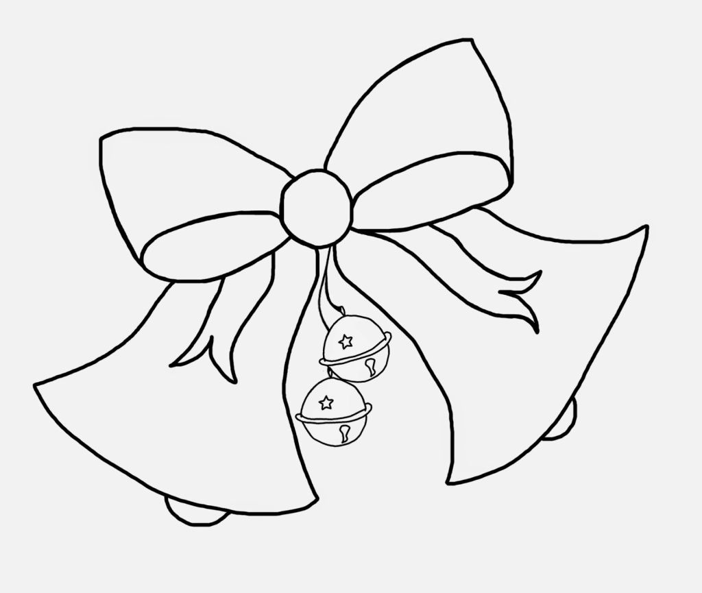 Christmas Bell Coloring Pages Coloring Pages Pinterest