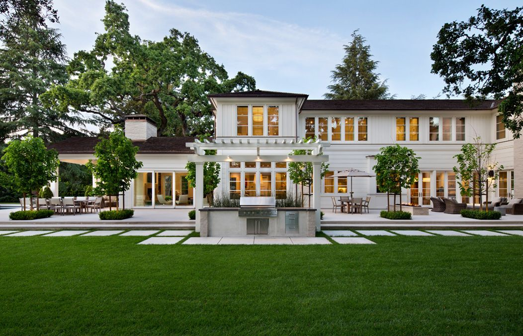 Sophisticated Transitional Style Luxury Home Atherton