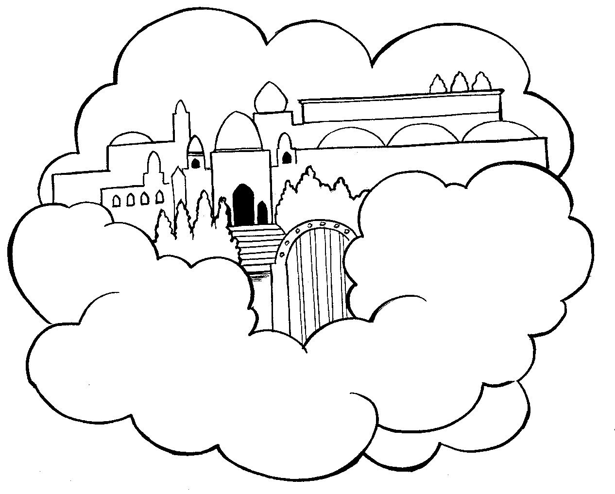 Heaven Coloring Pages Heaven Colouring Pages Page 2 Bible