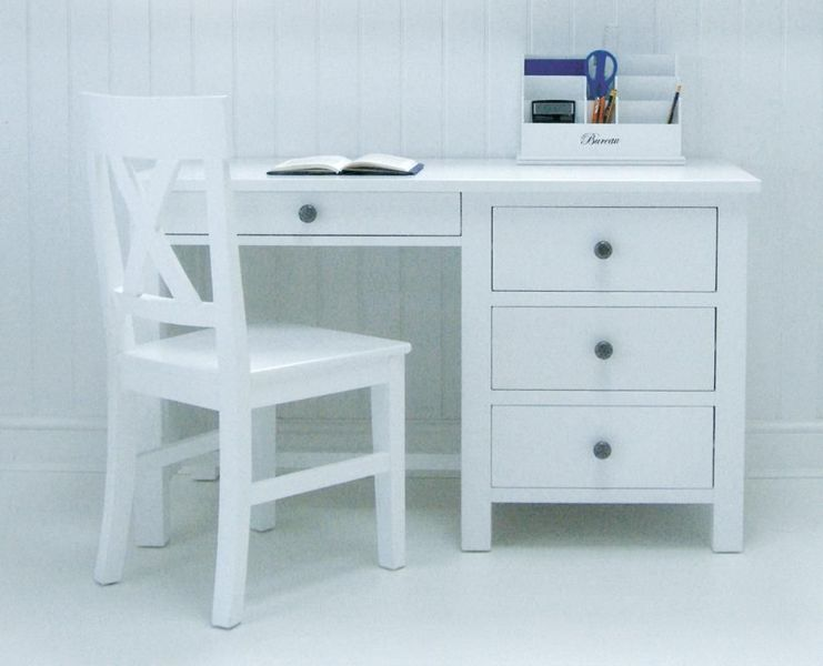 Have to have it  Walker Edison Deluxe Wood Desk with Hutch   White     New England White Desk