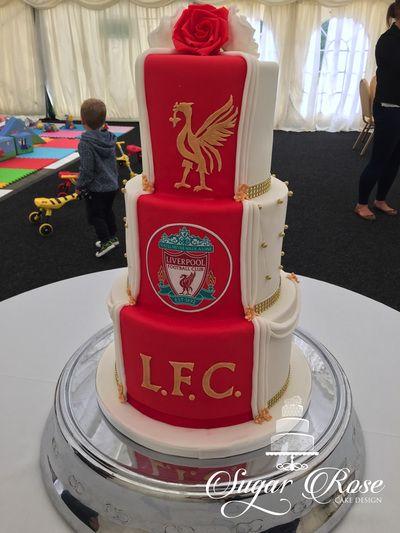 Half And Half Wedding Cake Liverpool Fc Cake Ideas I